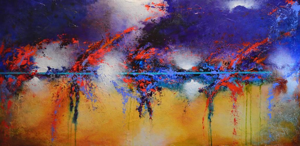 Genesis Contemporary American abstract art, Steven Dieringer, Nashville Tennessee, Friday Harbor San Juan Island, wall art, interior decorating, interior design